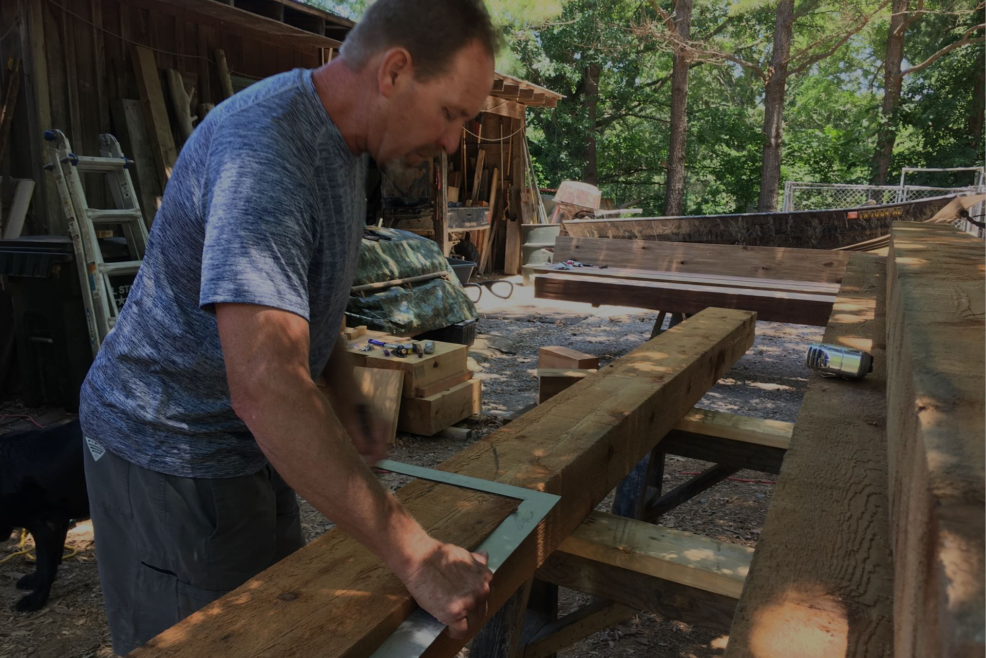 Building Rustic Timber Mantels and custom wood projects